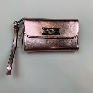 Victoria's Secret Metallic Pink Wristlet Wallet